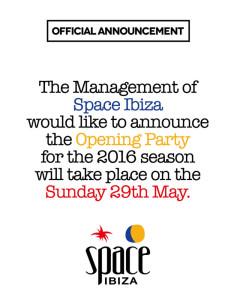 Space Ibiza Opening 2016